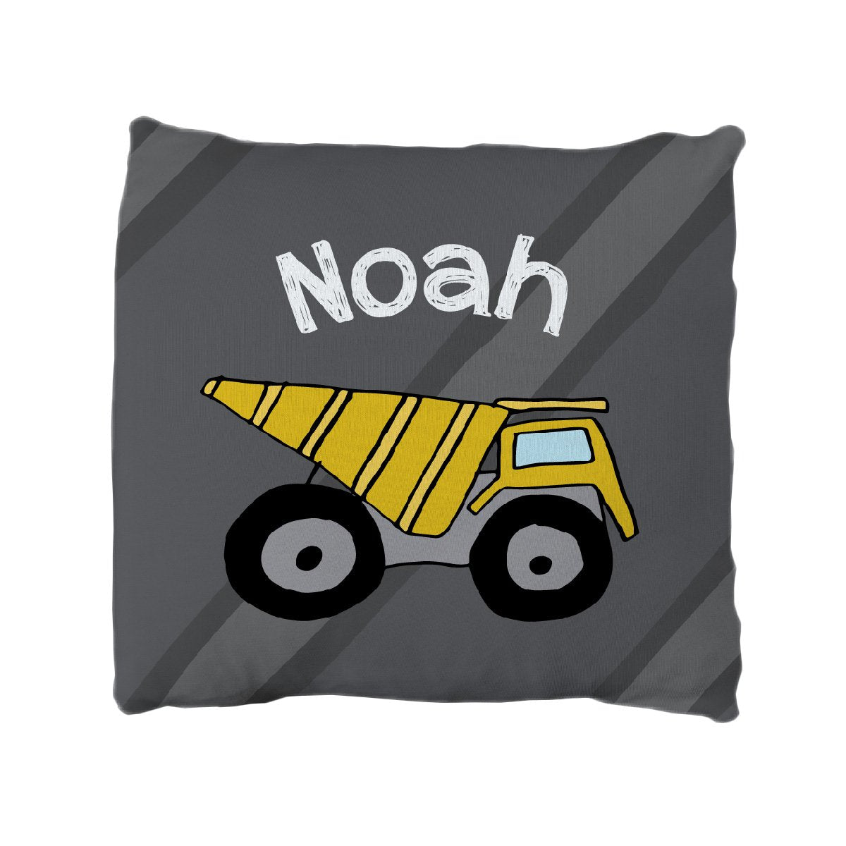 Travis's Construction Crew | Big Kid Throw Pillow