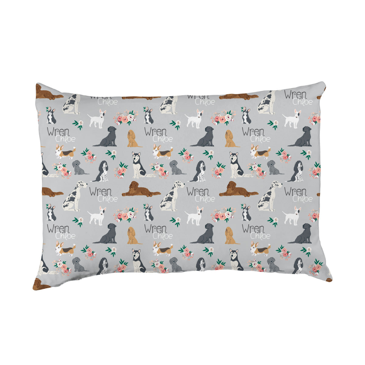 Wren's Pack of Puppies | Big Kid Pillow Case