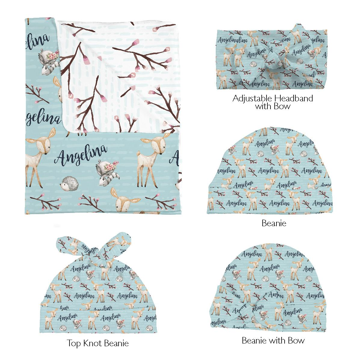 Penelope's Woodland Deer | Swaddle and Hat Set