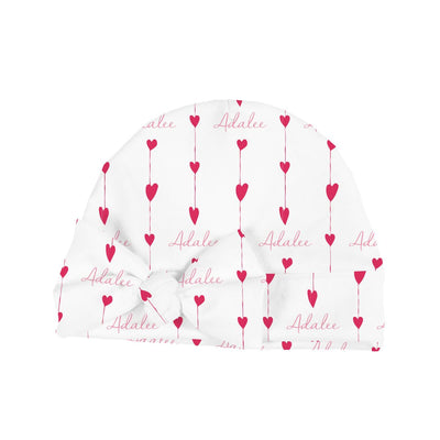 Adalee's Valentine Hearts | Swaddle and Hat Set