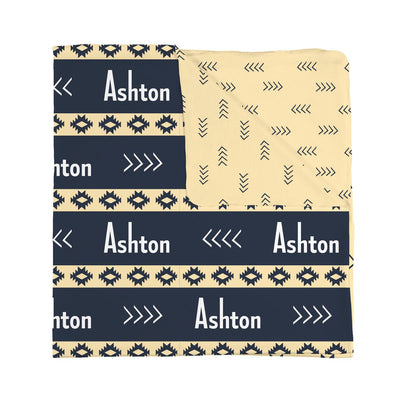 Double Sided Aztec Personalized baby blanket