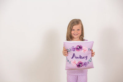 Margot's Magenta Floral | Big Kid Throw Pillow