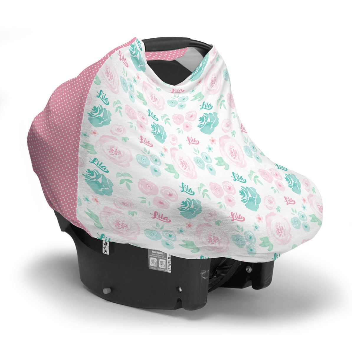 Lila's Summer Floral | Car Seat Cover (Multi-Use)