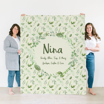 Fay's Fresh Floral | Family Name Blanket