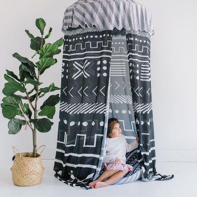 Tiago's Charcoal Tribe | Floor Pillow