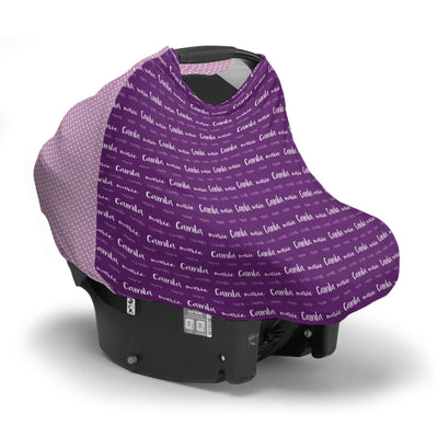 Camila's Multi Font | Car Seat Cover (Multi-Use)