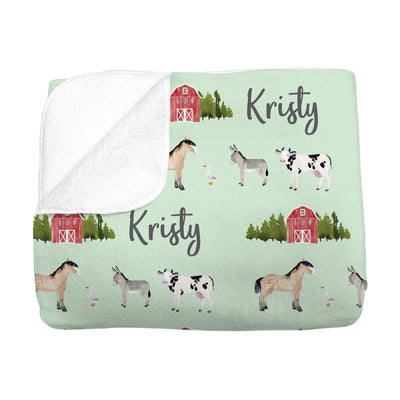 Kristy's Barnyard | Big Kid Blanket
