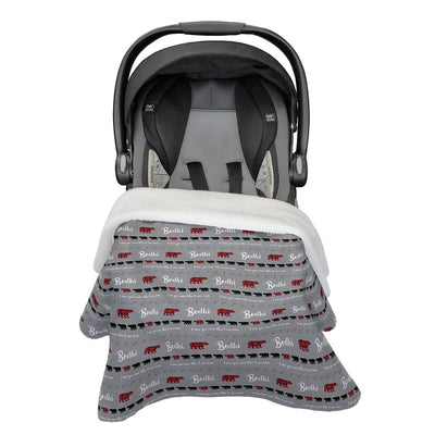 Bodhi's Bear Mountains Are Calling | Car Seat Blanket