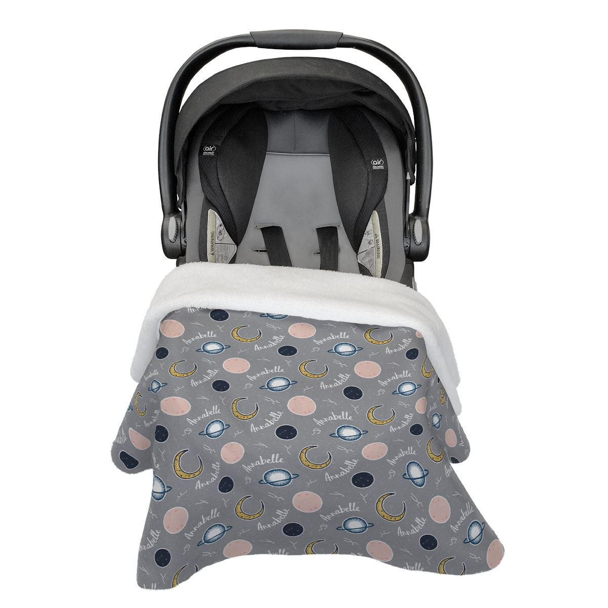 Annabelle's Outer Space | Car Seat Blanket