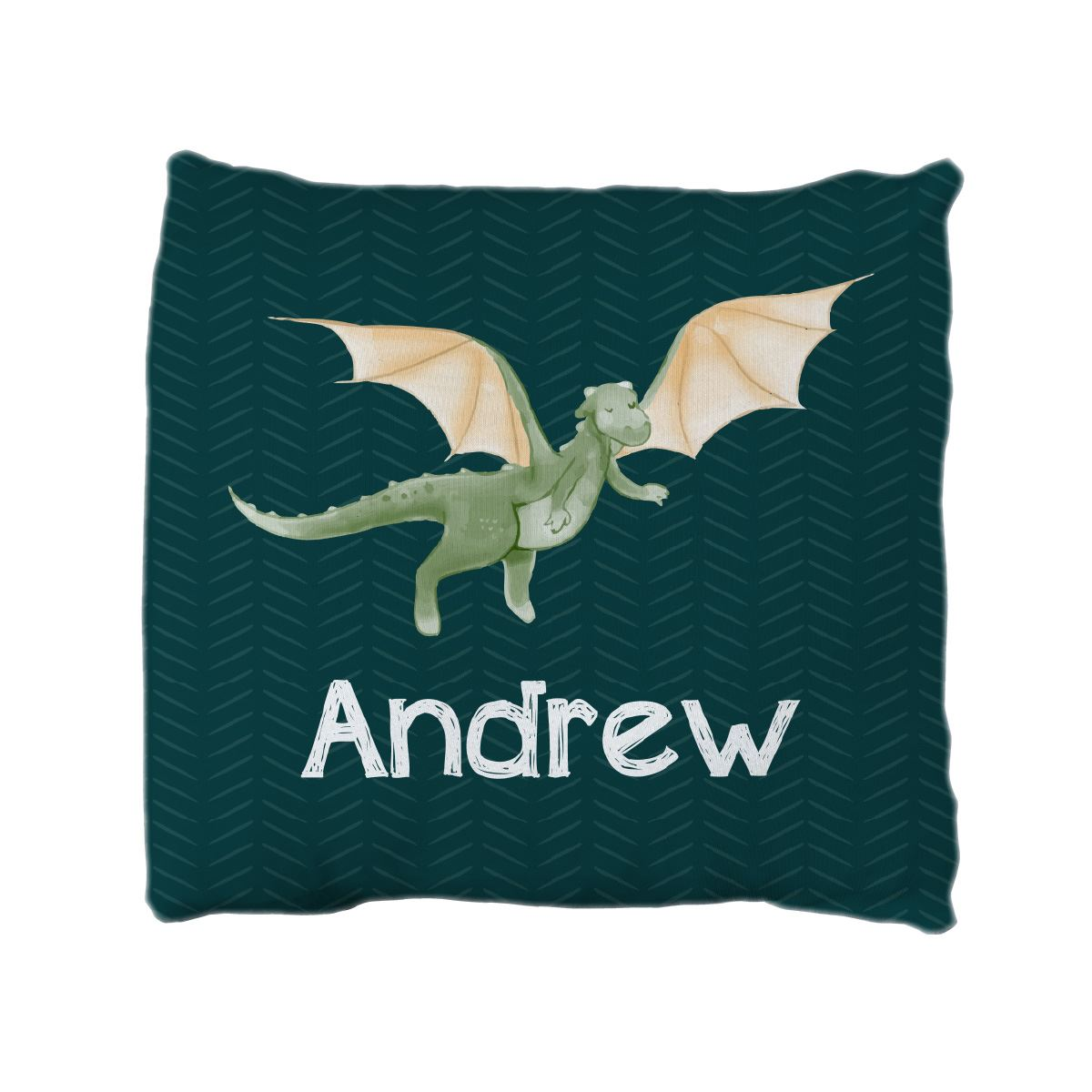 Andrew's Castle and Dragons | Big Kid Throw Pillow