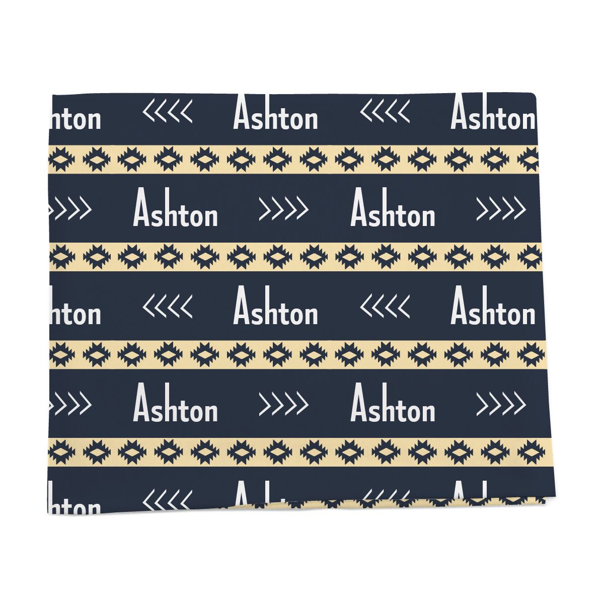 Aztec Personalized baby blanket