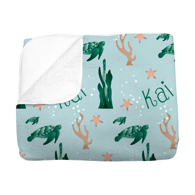 Kai's Serene Sea Turtle | Big Kid Blanket