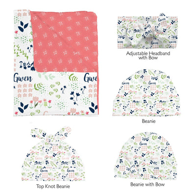 Gwen's Field of Flowers | Swaddle and Hat Set