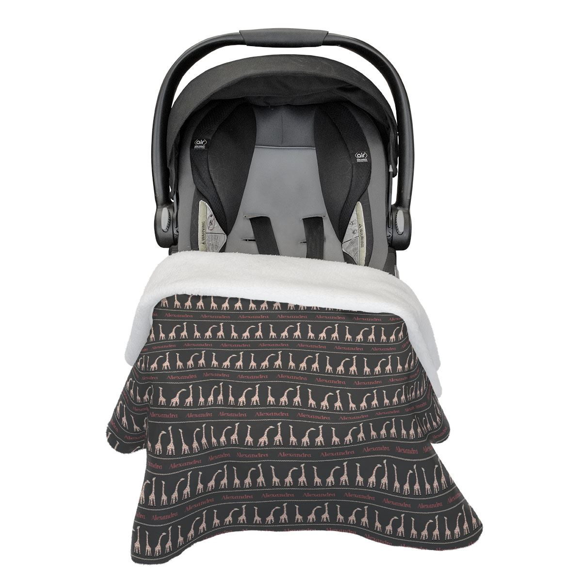 Afia's Gentle Giraffe | Car Seat Blanket