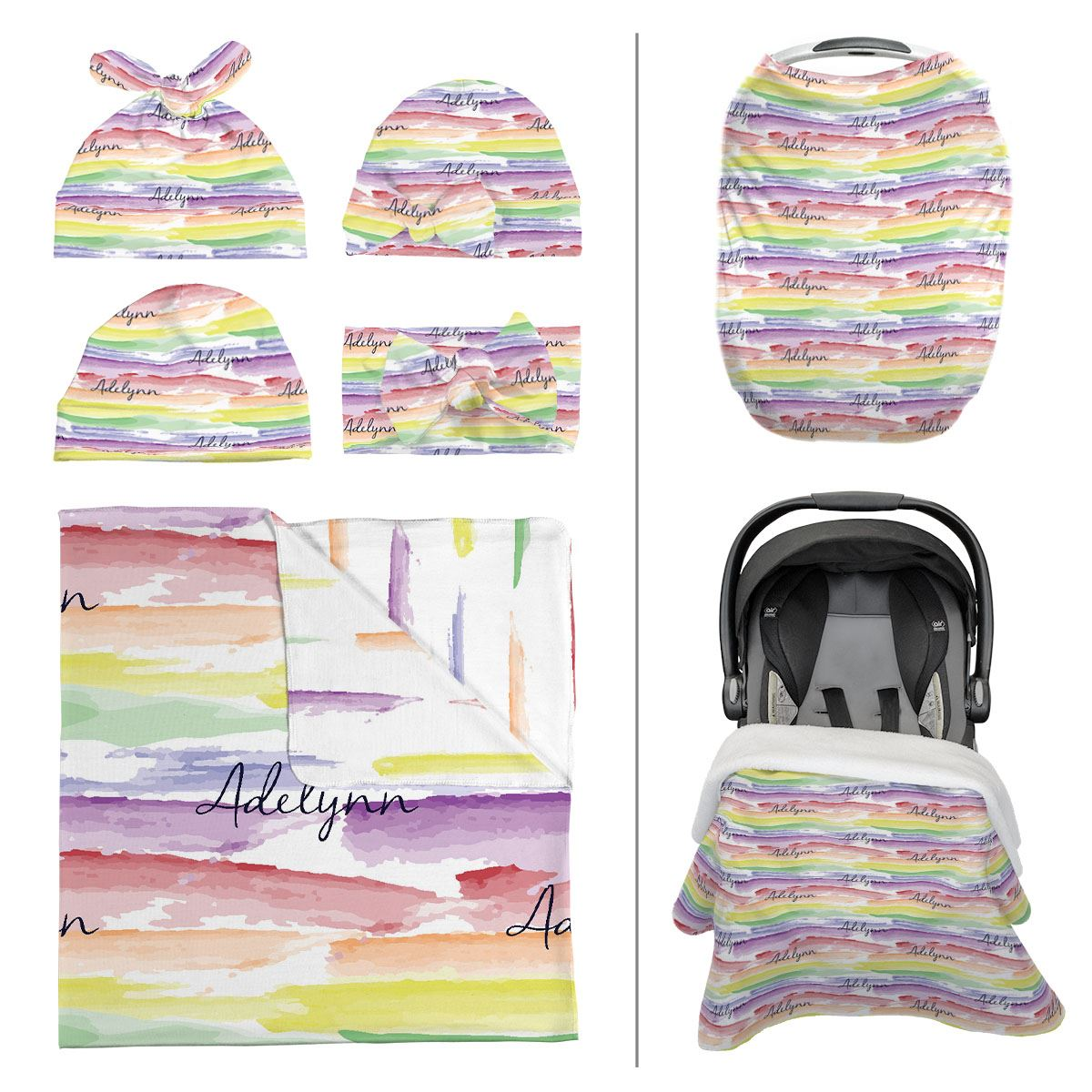 Jayla's Watercolor Rainbow | Take Me Home Bundle