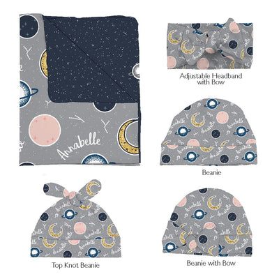 Annabelle's Outer Space | Swaddle and Hat Set