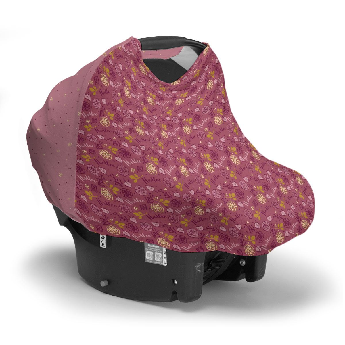 Hadlee's Plum Floral | Car Seat Cover (Multi-Use)