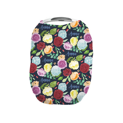 Bella's Painted Peony Rainbow | Car Seat Cover (Multi-Use)