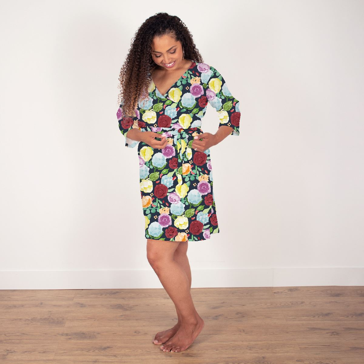 Bella's Painted Peony Rainbow | Robe