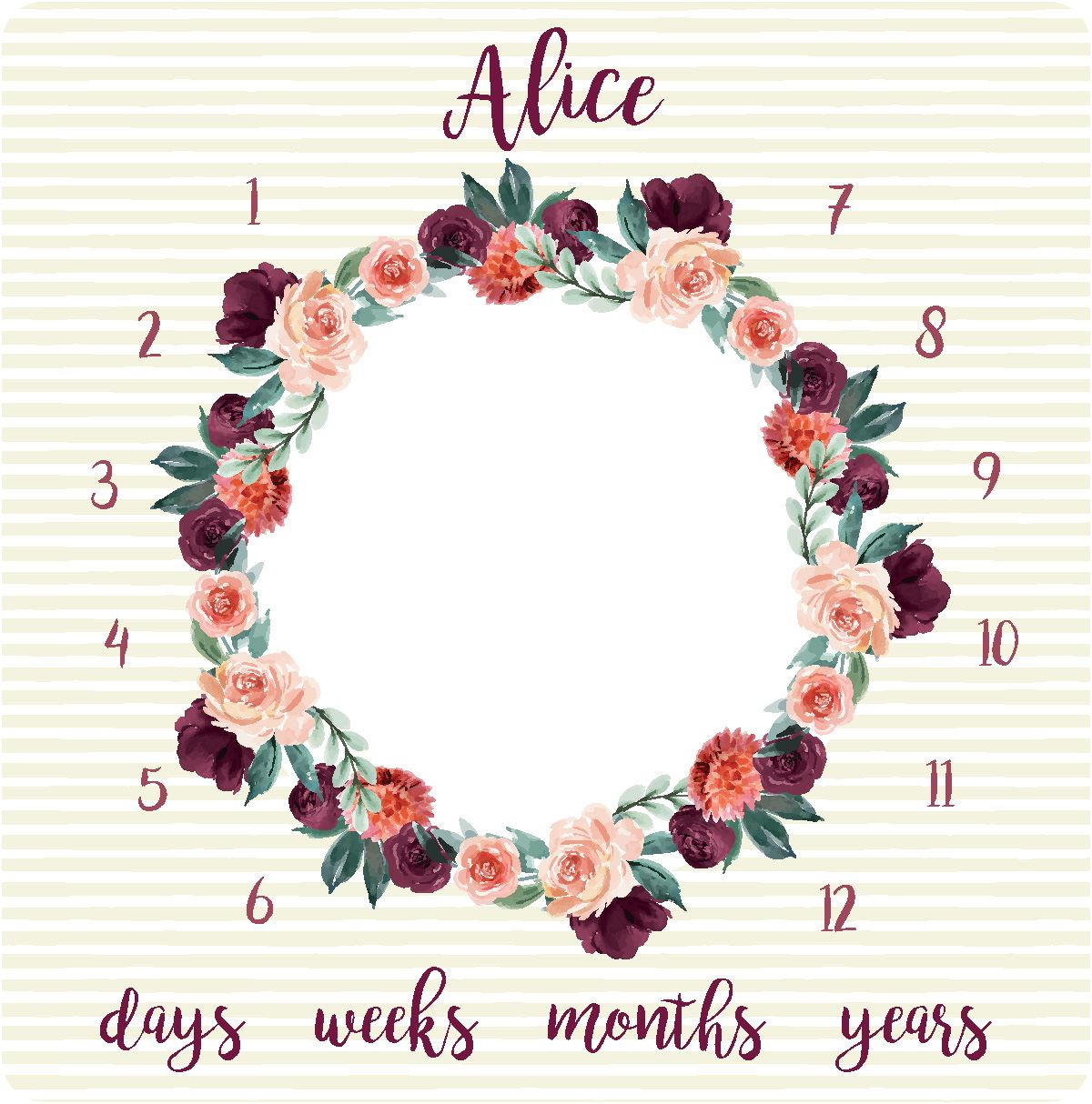 Alice's Autumn Rose | Milestone Blanket