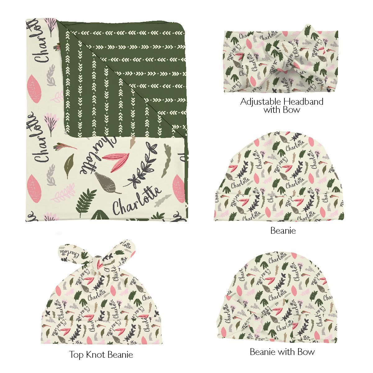 Amani's Floral | Swaddle and Hat Set