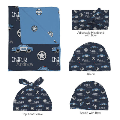 Charlie's Police Chase | Swaddle and Hat Set