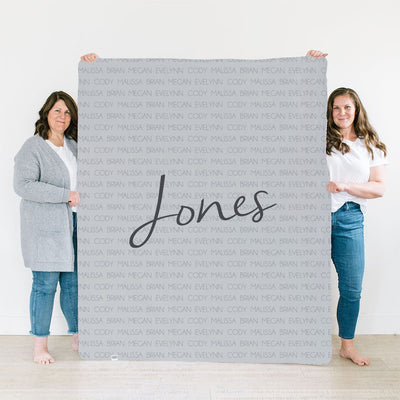 Sonia's Family Celebration | Family Name Blanket