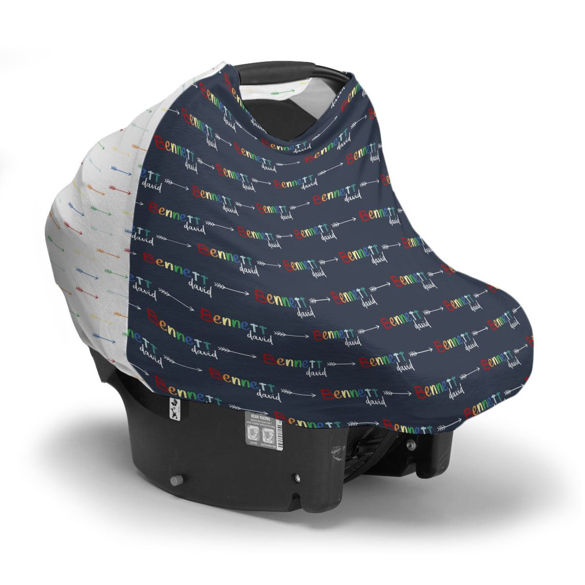 Xander's Rainbow Arrows | Car Seat Cover (Multi-Use)