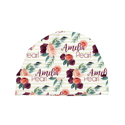 Alice's Autumn Rose | Swaddle and Hat Set