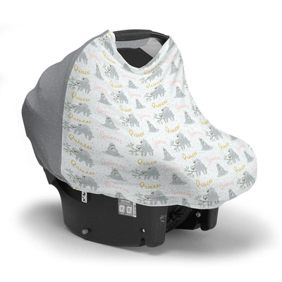 Quincee's Mama Sloth | Car Seat Cover (Multi-Use)