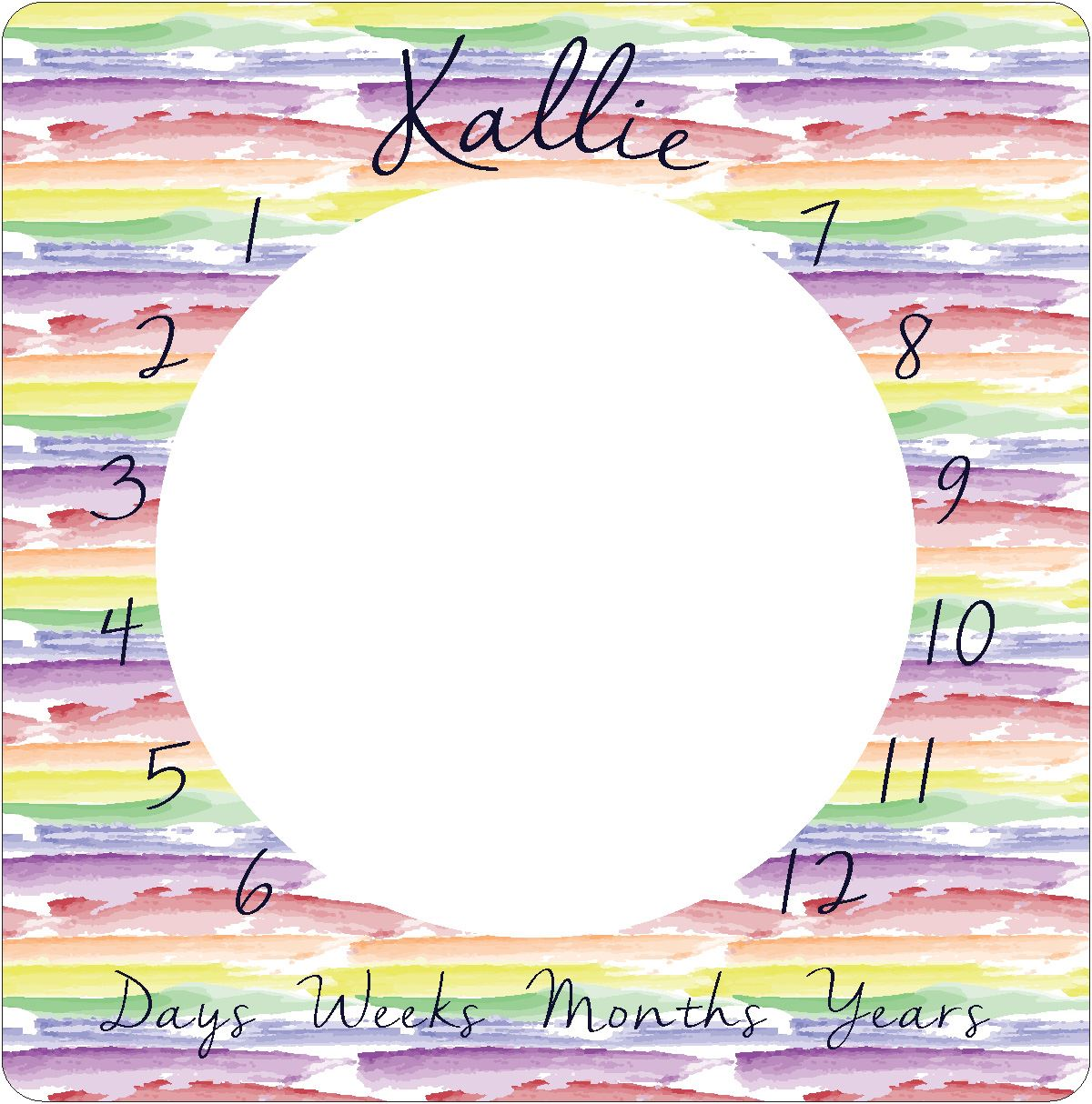 Jayla's Watercolor Rainbow | Milestone Blanket