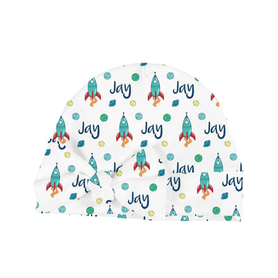 Jay's Space Exploration | Swaddle and Hat Set