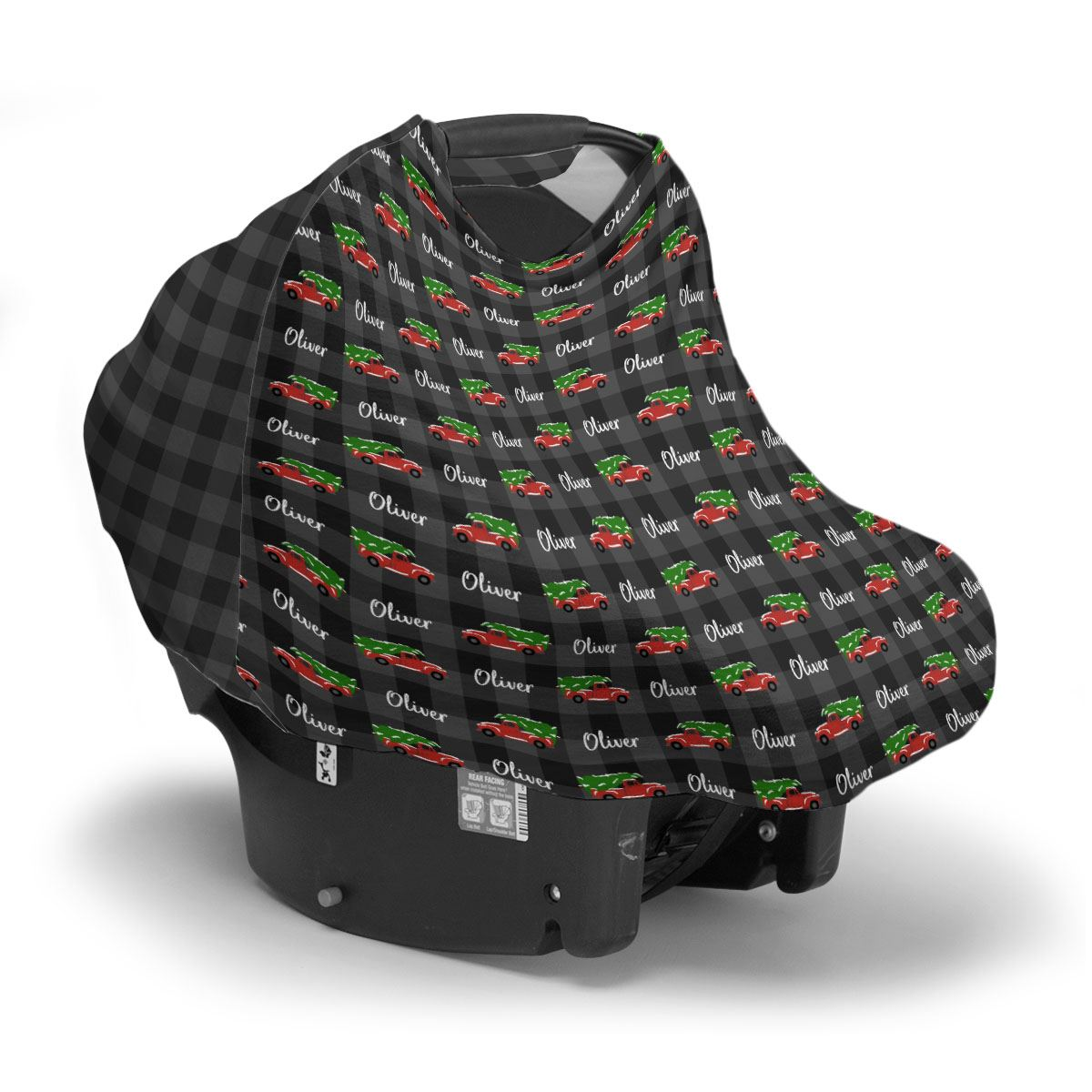 Oliver's Christmas Adventure | Car Seat Cover (Multi-Use)