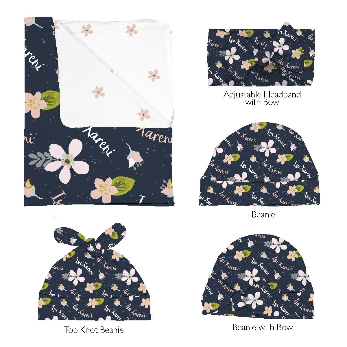 Isa's Dainty Daisy | Swaddle and Hat Set