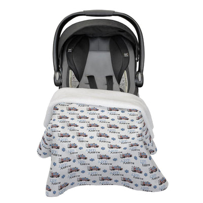 Aaron's Speedy Ambulance | Car Seat Blanket