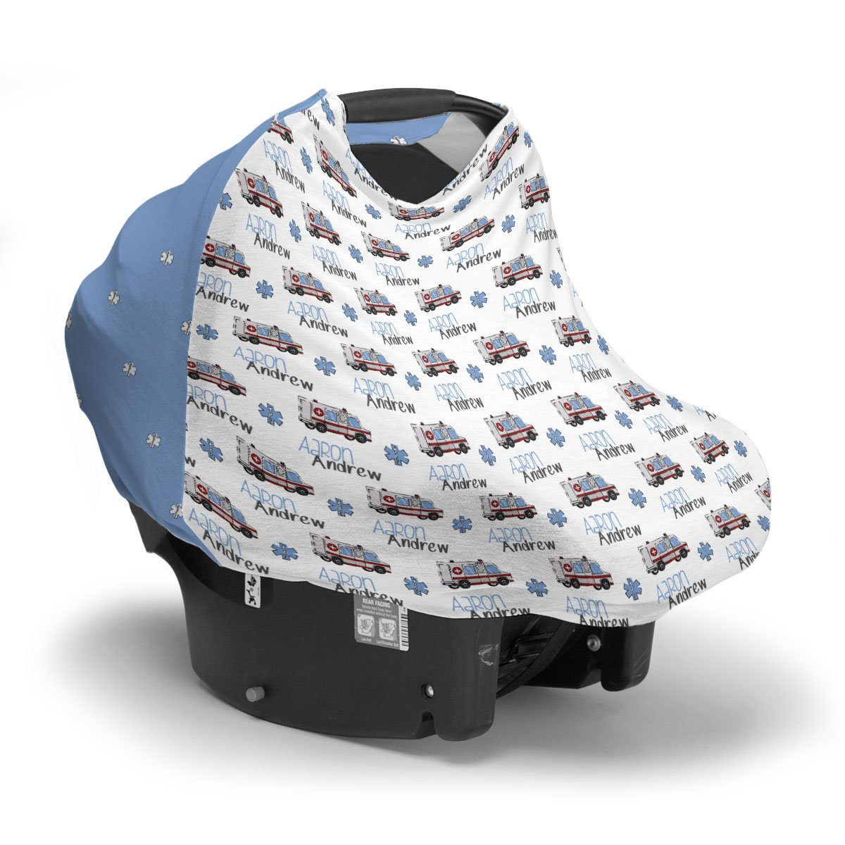 Aaron's Speedy Ambulance | Car Seat Cover (Multi-Use)