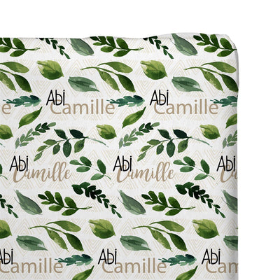 Abi's Sketchy Greenery | Changing Pad Cover