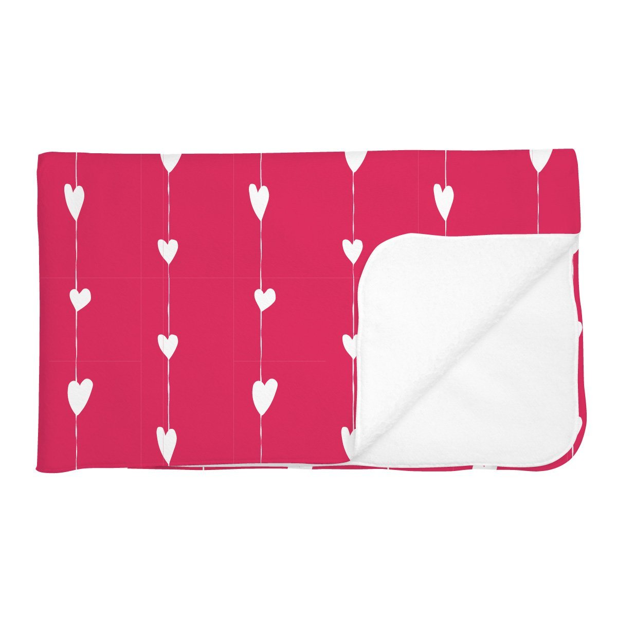 Adalee's Valentine Hearts | Adult Size Blanket
