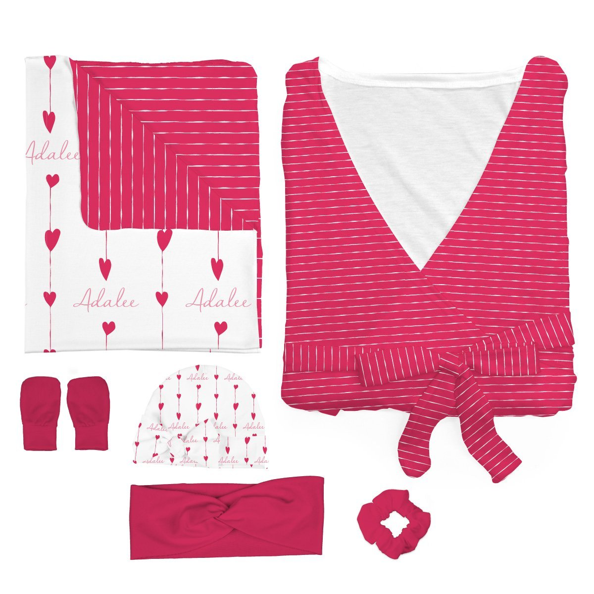 Adalee's Valentine Hearts| Mommy & Me Bundle