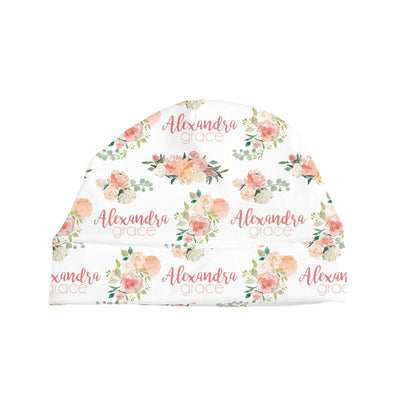 Alexandra's Springtime Floral | Swaddle and Hat Set