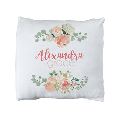 Alexandra's Springtime Floral | Big Kid Throw Pillow