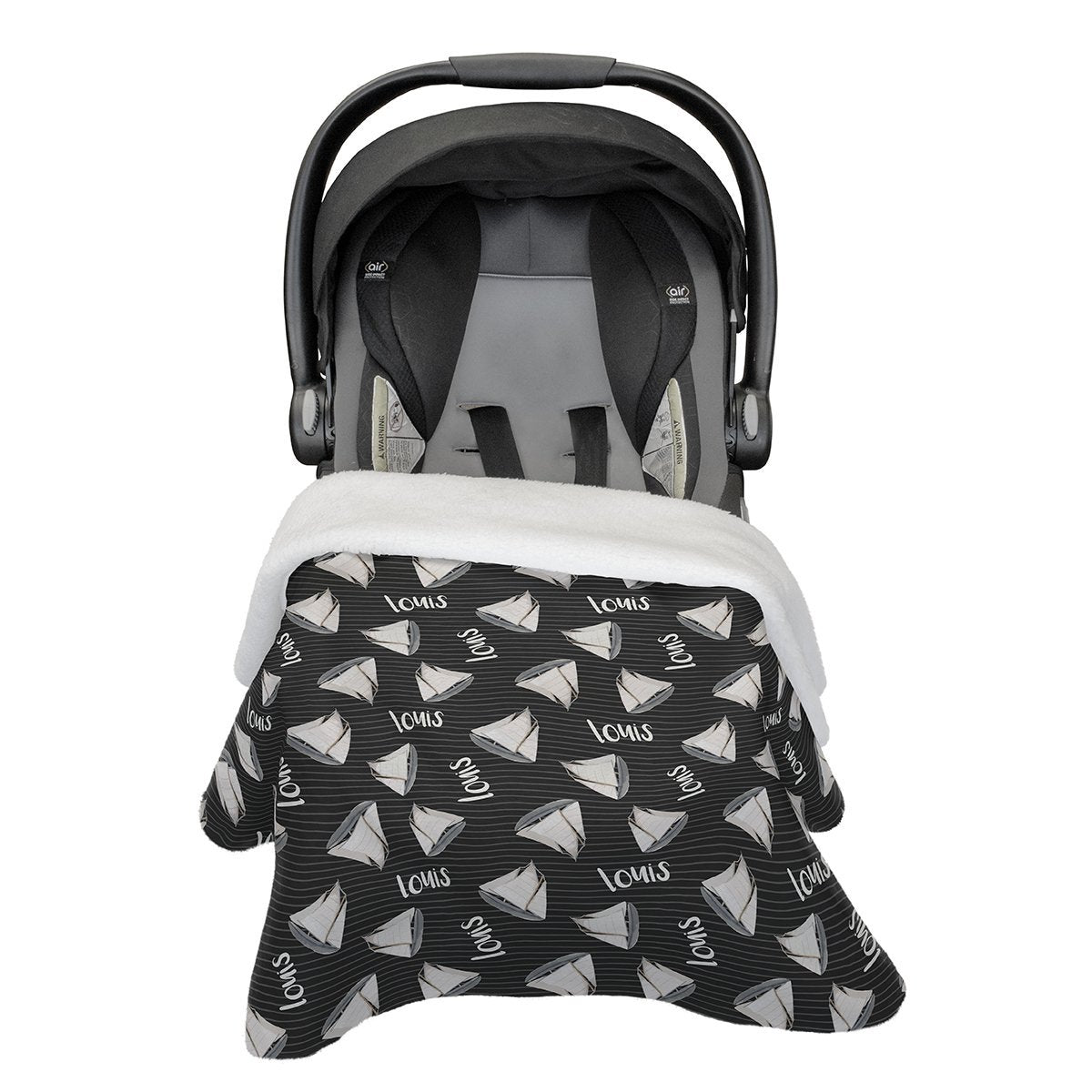 Andre's Misty Sailboat | Car Seat Blanket