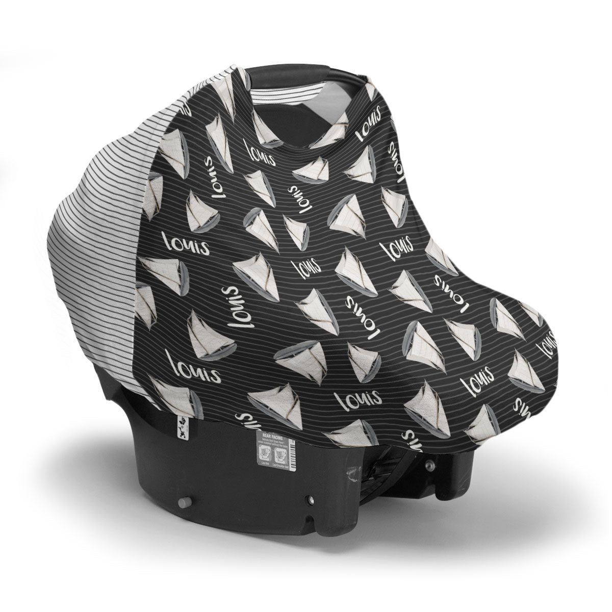 Andre's Misty Sailboat | Car Seat Cover (Multi-Use)