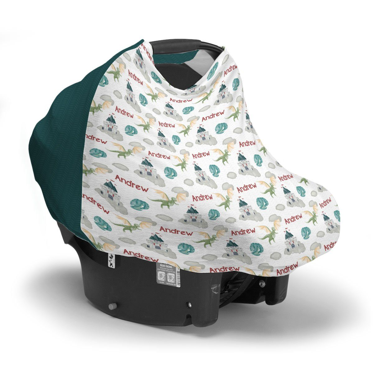 Andrew's Castle and Dragons | Car Seat Cover (Multi-Use)