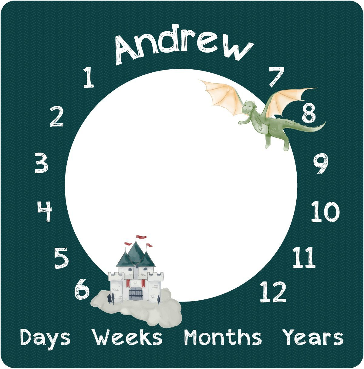 Andrew's Castle and Dragons | Milestone Blanket
