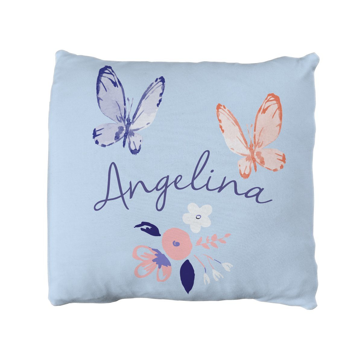 Angelina's Summer Butterfly | Big Kid Throw Pillow