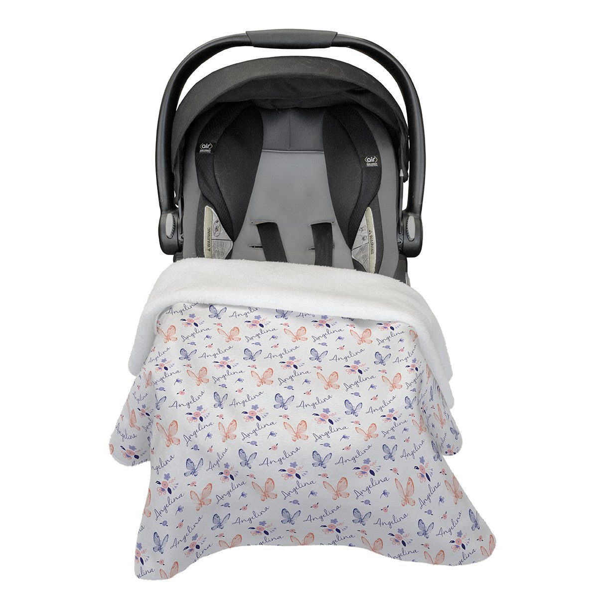 Angelina's Summer Butterfly | Car Seat Blanket