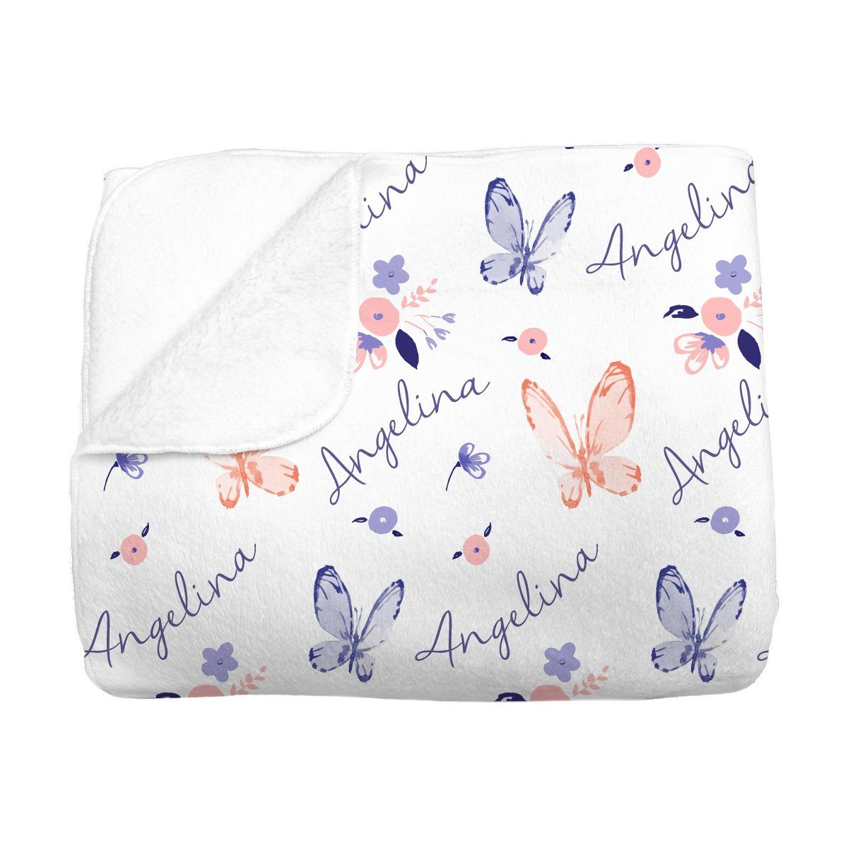Angelina's Summer Butterfly | Big Kid Blanket