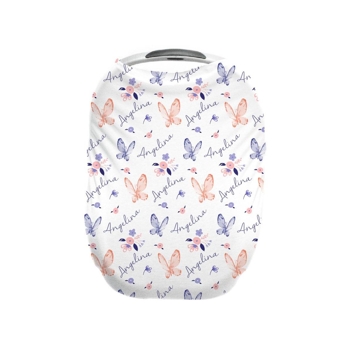Angelina's Summer Butterfly | Car Seat Cover (Multi-Use)
