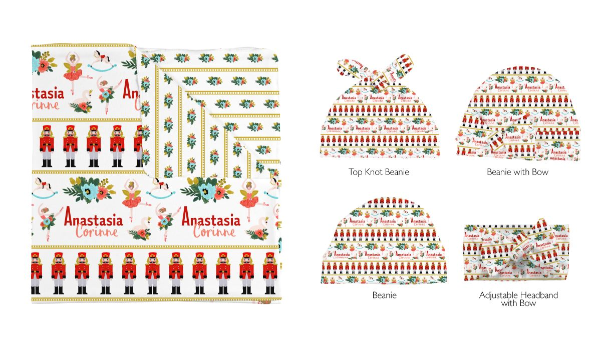 Anna's Nutcracker Tale | Swaddle and Hat Set